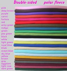 Double-sided polar fleece fabric, anti-pilling, Hoodies ,blankets,coats,lining fabric, SOLD BY THE YARD, FREE SHIPPING!!! #Affiliate
