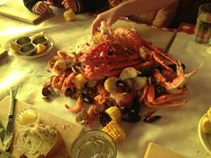 The Crab Pot in Seattle - Looked like a tacky tourist seafood restaurant but when they pour a large bowl of crab legs onto the table - you don't care
