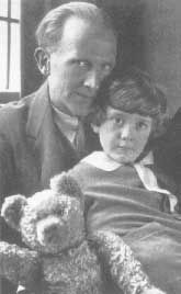 A. A. Milne with his son, Christopher Robin  author of Winnie the Pooh