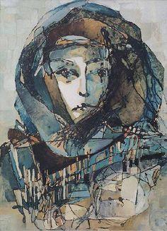 """Portret of my mother"", oil painting by Marinela Bibeshkova                      zmeik.com"