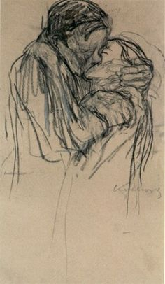 Kathe Kollwitz- I REALLY love this... It reminds me of kissing in the rain:)