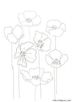 Line Drawing Poppy Flower Line Drawing Poppy Flower. Line Drawing Poppy Flower. Simple Poppy Drawing Simple Poppy Drawing Keywords in poppy flower drawing Poppies Poppy Drawing, Floral Drawing, Line Drawing, Art Floral, Watercolor Flowers, Watercolor Paintings, Watercolour, Poppies Art, Embroidery Patterns