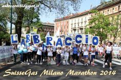 L'arrivo coreografico de L'Abbraccio #staffettami #milanomarathon