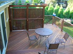 Privacy Deck with pergola.