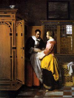 Pieter de Hooch - L'Armoire a Linge