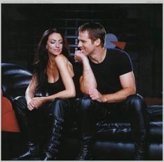 "My other fave TV couple -- John Crichton (Ben Browder) and Aeryn Sun (Claudia Black). ""Farscape"" may be gone from SyFy, but never forgotten!"