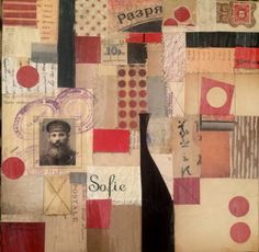 "12""x12"" papers on wood panel. Steven Gilbar"