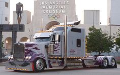 "Custom Big Rigs - Bruce Springsteen ""Magic"" North American Tour 2007 - Brian Jones whata sleeper, big truck, big rig, bigrig, custom big, custom semi, summer outfits, hot rig, semi truck"