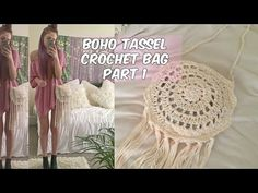 DIY BOHO TASSEL CROCHET BAG PART 1 - YouTube