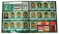 Panini Checkliste WM 2010 Mexiko Sticker eingeklebt
