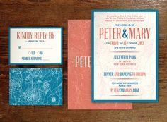 Printable Wedding Invitation Set - Customizable on Etsy, $40.00