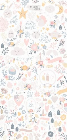 66 Ideas For Flowers Illustration Pattern Design Art Prints Iphone Background Wallpaper, Pastel Wallpaper, Aesthetic Iphone Wallpaper, Flower Wallpaper, Aesthetic Wallpapers, Girl Wallpaper, Rabbit Wallpaper, Screen Wallpaper, Cute Wallpaper Backgrounds