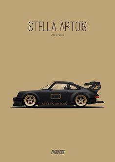 Porsche art Stella Artois