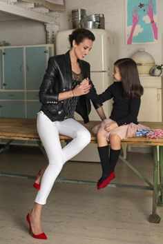 working mum: Nieves Alvarez y su hija Bianca