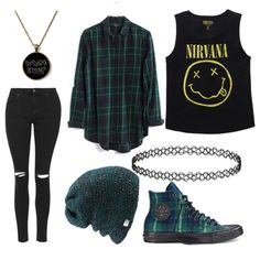 Untitled #627 by forever-an-angel on Polyvore featuring moda, Madewell, Topshop, Converse and Coal