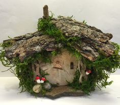 Cottage/Hobbit House!! Rustic Shabby Chic/ Enchanted Forest/ Fairy Gnome Door/ Reclaimed Wood /Natural Slate/Wedding/ Woodland Party by Rusticredoo on Etsy https://www.etsy.com/listing/465286405/cottagehobbit-house-rustic-shabby-chic