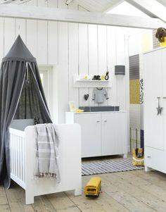 stoere inrichting babykamer grijs wit geel | ZOOK.nl