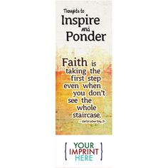 Make reading fun- you'll be truly inspired with the Thoughts to Inspire and Ponder Bookmark. Fill it with your customizable inspirational message on #MotivationMonday!  Website: misterpromotion.com