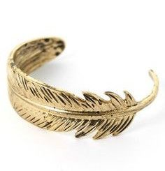 Feather Cuff - Gold