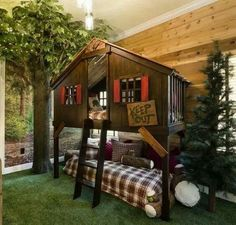 Pottery barn tree house bunk bed