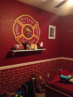 1000 ideas about firefighter bedroom on pinterest for Fire truck bedroom ideas