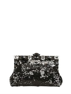 Dolce & Gabbana Small Vanda Sequined Clutch on shopstyle.co.uk