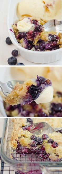 Blueberry Dump Cake Ever Just like the cherry dump cake but with blueberry pie filling instead