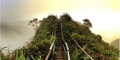 Why This (Illegal!) Hike Is Everyone In Hawaii's Favorite? The Haiku stairs on Oahu -- also known as the Stairway to Heaven -- is the one hike to rule them all.