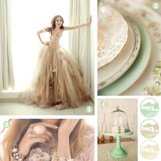 Google Image Result for http://theweddingshoebox.com/wp-content/uploads/2012/02/mint.jpg    I love this color combo, MINT, Ivory and Gold!!