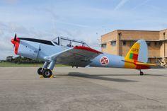 De Havilland Chipmunk, G-BARS, in Portugese colours.