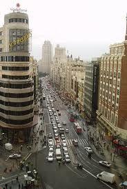 main street Gran Via of Madrid, Madrid is different, culture, joy, 365 days 24 hours of life on the street. www.rttm.es