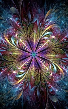 Creative Fractals by Eli Vokounova - Cruzine Fractal Design, Fractal Art, Butterfly Wallpaper, Colorful Wallpaper, Wallpaper Backgrounds, Wallpaper Art, Illusion Kunst, Illusion Art, Mandala Art