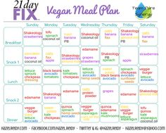 21 DF sample 1 week meal plan for those who eat soy...