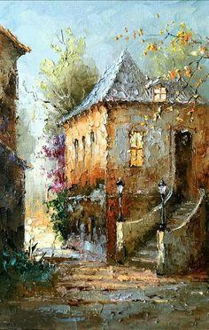 Ideas For Painting Landscape Oil Palette Knife Landscape Art, Landscape Paintings, Art Abstrait, Acrylic Art, Beautiful Paintings, Art Oil, Watercolor Paintings, Oil Paintings, Art Drawings