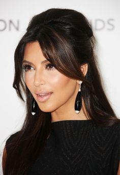 More Angles of Kim Kardashian Long Straight Cut - StyleBistro