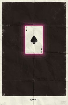 Minimalist Posters  Gambit from X-Men