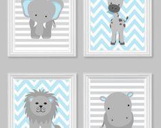 Zoo Nursery Decor Elephant Nursery Zoo Baby Room Hippo