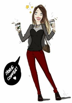 Bangbangblond |Blog mode Suisse - Swiss Fashion blog by Alison Liaudat: B. WANTS MORE COFFEE Illustration, Coffee, Blog, Fashion, Kaffee, Moda, Fashion Styles, Cup Of Coffee, Blogging