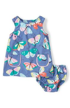 Mini Boden Sleeveless Jersey Dress & Bloomers (Baby Girls) available at #Nordstrom