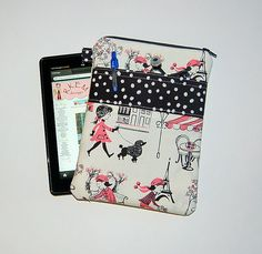 Polly Goes To Paris  Nook Color / Kindle Fire / by RKEMdesigns, $24.50