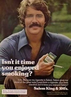1977 Salem advertisement...I remember this ad! Before cigarette ads were banned.