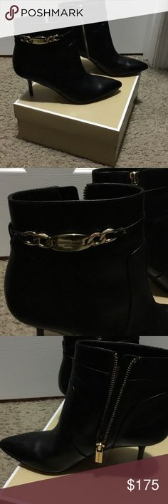 NWT Michael Kors Lainey Boot Black These are NWT & come with box. There is a little bit of dirt on the bottom of the shoes from being tried on around the shop but they are new! MICHAEL Michael Kors Shoes Ankle Boots & Booties