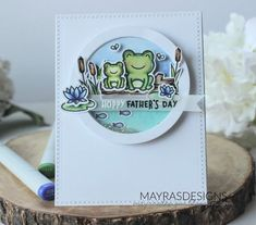 Mayras Designs: Hoppy Father's Day with Lawn Fawn. Fathers Day Poems, Fathers Day Presents, Fathers Day Crafts, Happy Fathers Day, Gifts For Father, Dad Gifts, Grandparent Gifts, Lawn Fawn Stamps, Masculine Birthday Cards