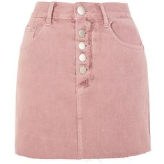 dd0196c332eb5 Pink Wash Denim Skirt by Glamorous (£28) ❤ liked on Polyvore featuring  skirts
