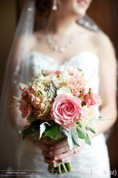 Bridal bouquet, pink floral bouquet, wedding bouquet