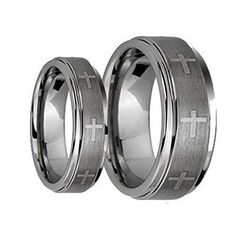 His & Her's 8MM/6MM Brushed Center With Laser Cross Engraved Shiny Edge Tungsten Carbide Wedding Band Ring Set tungsten jeweler http://www.amazon.com/dp/B012U2SY9Y/ref=cm_sw_r_pi_dp_SXqzwb10K5235
