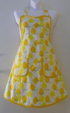 Yellow lemon Apron with YellowTrim