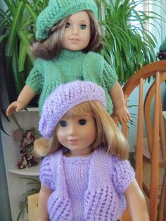Free knit pattern american girl doll spring beret hat