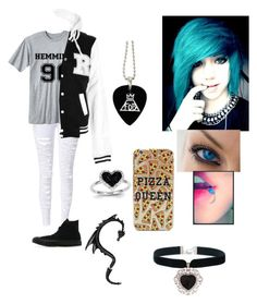 """""""Untitled #425"""" by love5sos124 ❤ liked on Polyvore featuring Kevin Jewelers, Converse and Rock 'N Rose"""