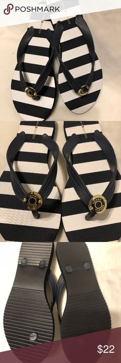 ⭐️❤️💗Tommy Hilfiger Flip Flops⭐️ ⭐️⭐️Tommy Hilfiger Flip Flops. Brand new , never used. No Tags . Size 7/8 navy blue with white strips Tommy Hilfiger Shoes Sandals